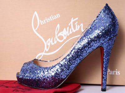 Sapato-Louboutin -Azul