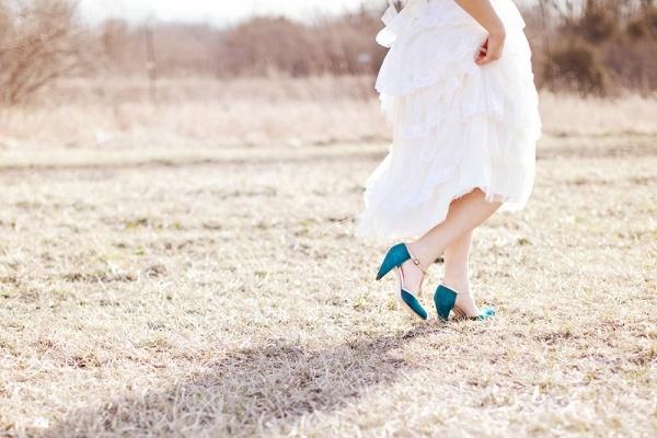 Sapatos coloridos para noiva