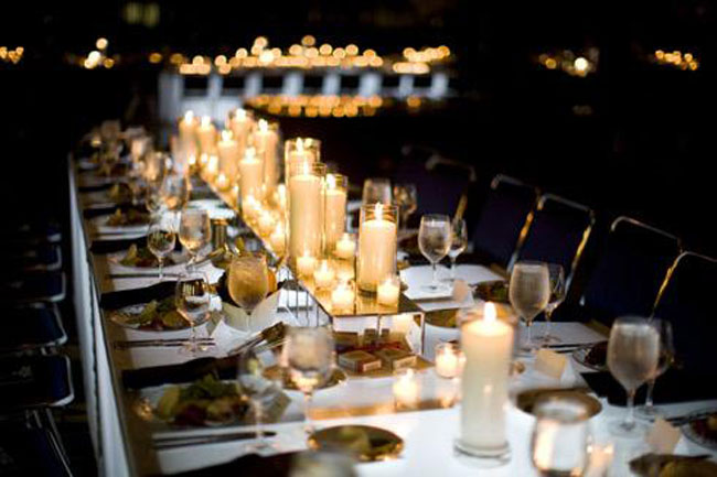 Resultado de imagem para decoração de casamento com VELAS