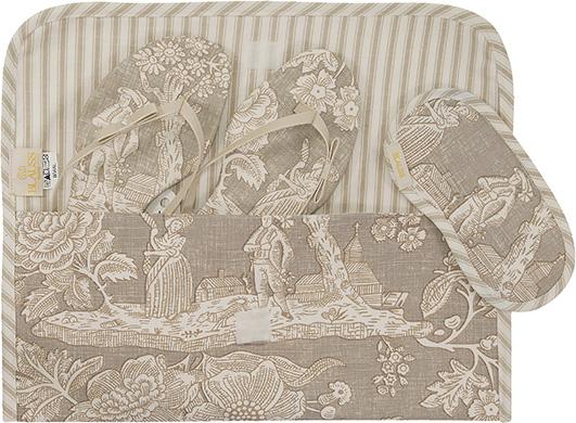 envelope em tecido BLAUSS MAISON rasteira e mascara kit madrinha
